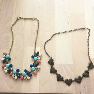 J. Crew Women's Chunky Necklace and Heart Necklace